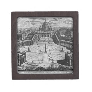 Map of Rome and the Campus Martius Jewelry Box
