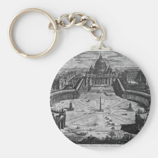 Map of Rome and the Campus Martius Keychain