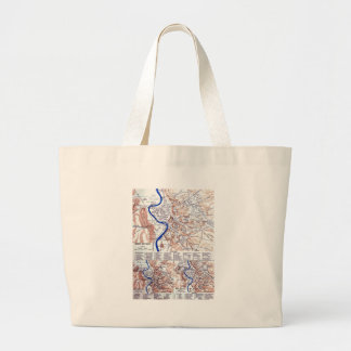 Map of Rome Canvas Bags