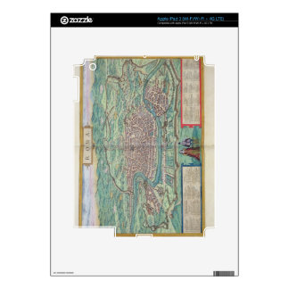 Map of Rome, from 'Civitates Orbis Terrarum' by Ge Decals For iPad 3
