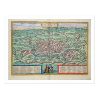 Map of Rome, from 'Civitates Orbis Terrarum' by Ge Postcard