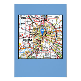 Map of Rome Italy Card
