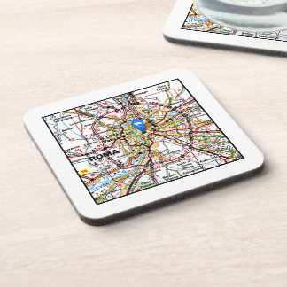 Map of Rome Italy Coasters