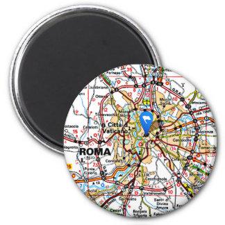 Map of Rome Italy Fridge Magnets