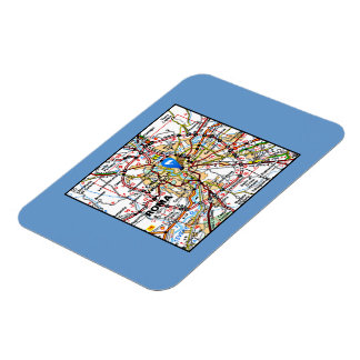 Map of Rome Italy Magnet