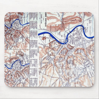 Map of Rome Mouse Pad