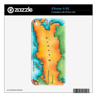 Map of Russia Decals For iPhone 4S
