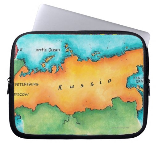 Map of Russia Laptop Sleeves