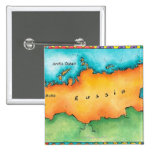Map of Russia Pinback Button