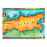 Map of Russia Post Cards