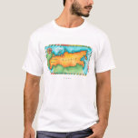 Map of Russia T-Shirt