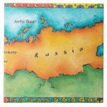 Map of Russia Tile