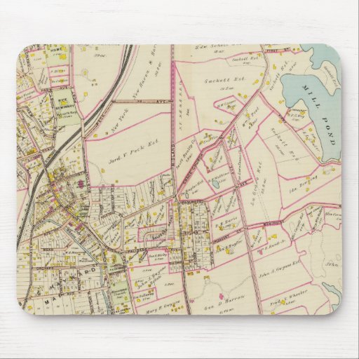 Map of Rye, New York Mousepad
