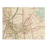 Map of Rye, New York Postcard