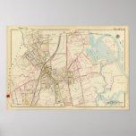 Map of Rye, New York Poster