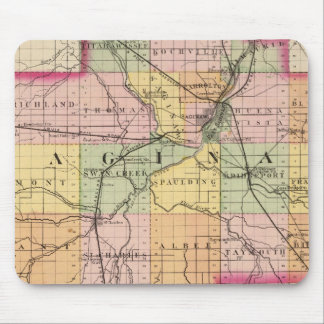 Map of Saginaw County, Michigan Mouse Pad