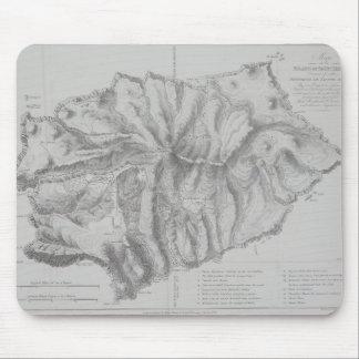 Map of Saint Helena Island Mouse Pad