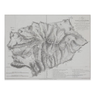 Map of Saint Helena Island Postcard