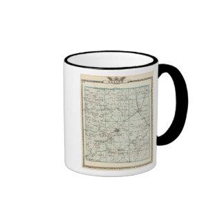 Map of Saline County Ringer Coffee Mug
