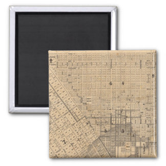 Map of San Francisco 2 Inch Square Magnet