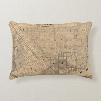 Map of San Francisco Accent Pillow