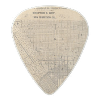 Map of San Francisco Acetal Guitar Pick