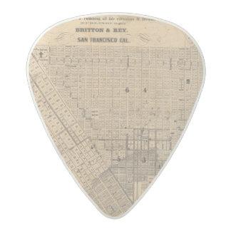 Map of San Francisco Acetal Guitar Pick