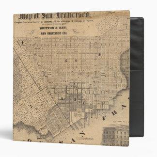 Map of San Francisco 3 Ring Binder