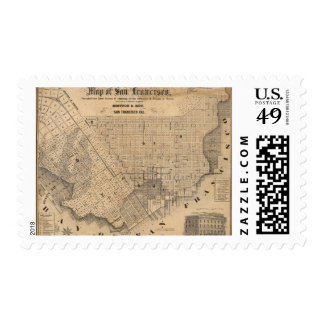 Map of San Francisco Postage Stamps