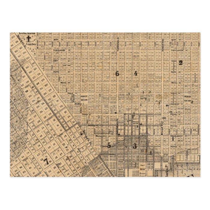 Map of San Francisco Postcard