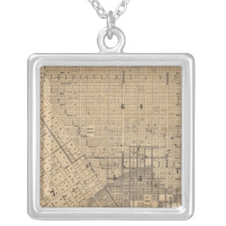 Map of San Francisco Silver Plated Necklace