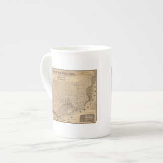 Map of San Francisco Tea Cup