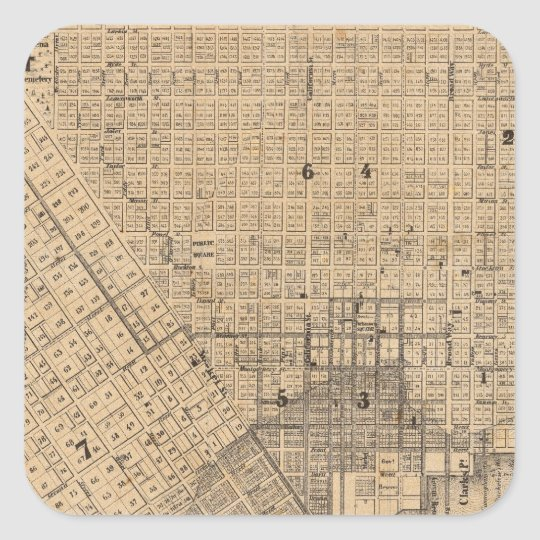 Map of San Francisco Square Sticker