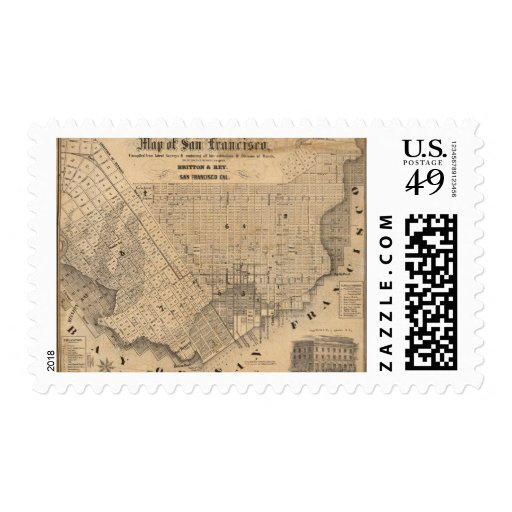 Map of San Francisco Stamp