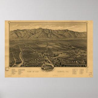 Map of San Gabriel, CA, 1893 Print