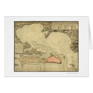 Map of San Juan, Puerto Rico 1785 Greeting Card