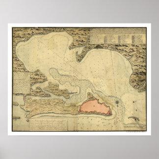 Map of San Juan, Puerto Rico 1785 Poster