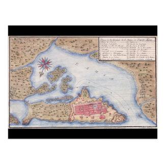 Map of San Juan Puerto Rico from 1770 Postcard