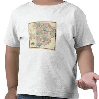Map of Sauk County and Kilbourn City T Shirts