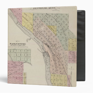 Map of Sauk Rapids, Map of Sauk Centre, Minnesota Binder