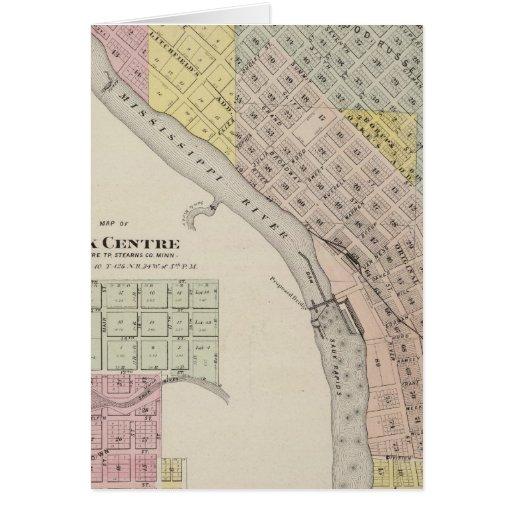 Map of Sauk Rapids, Map of Sauk Centre, Minnesota Greeting Card