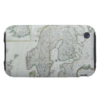 Map of Scandinavia iPhone 3 Tough Case