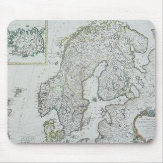 Map of Scandinavia Mouse Pad