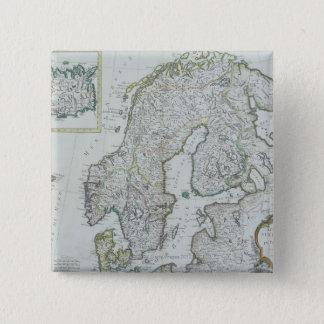 Map of Scandinavia Pinback Button