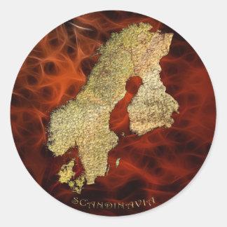 Map of SCANDINAVIA Sticker Series