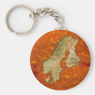 Map of SCANDINAVIA Travel Collection Keychain