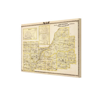 Map of Schuyler, Mason, Brown Canvas Print