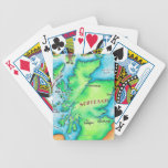 Map of Scotland Bicycle Playing Cards