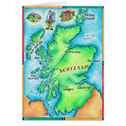 Map of Scotland Card