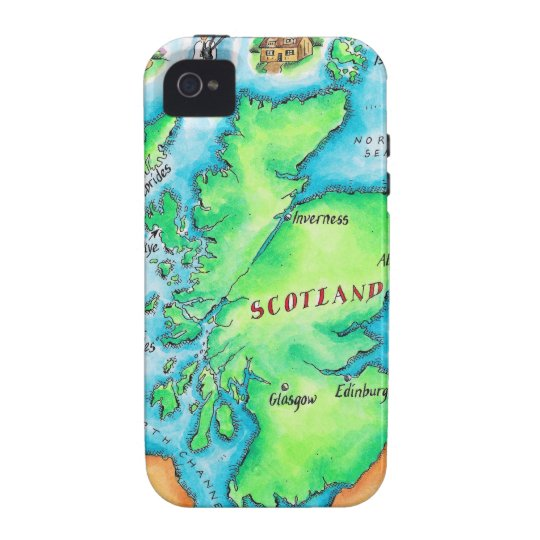 Map of Scotland Case For The iPhone 4
